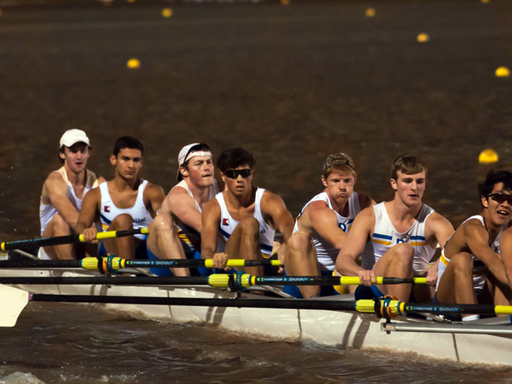 Mens 8+ wins gold in the night sprints