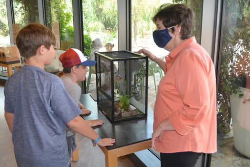 Judy serves a Dallas Arboretum volunteer.